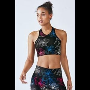Fabletics High Waisted Printed Leggings & Bra Top